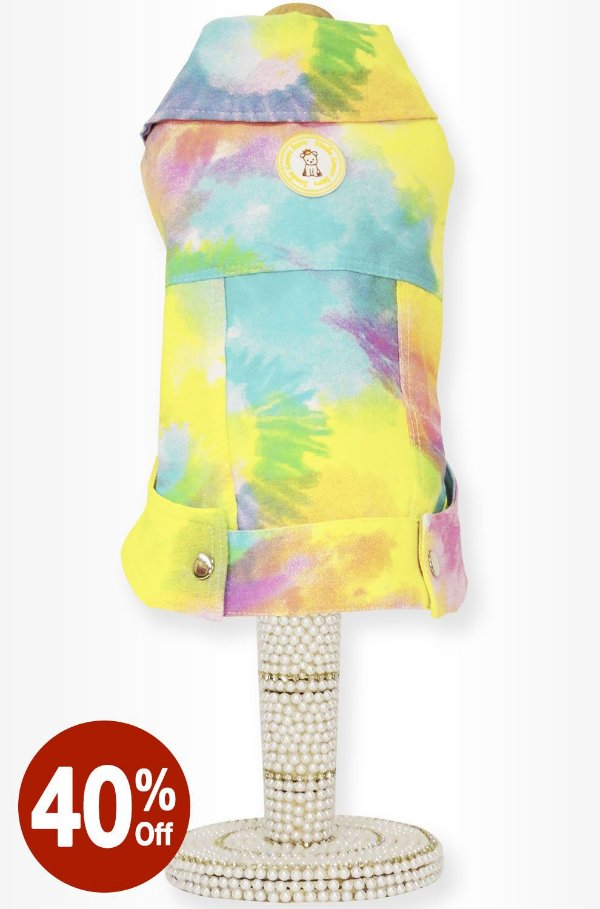 Jaqueta Tie Dye Amarela