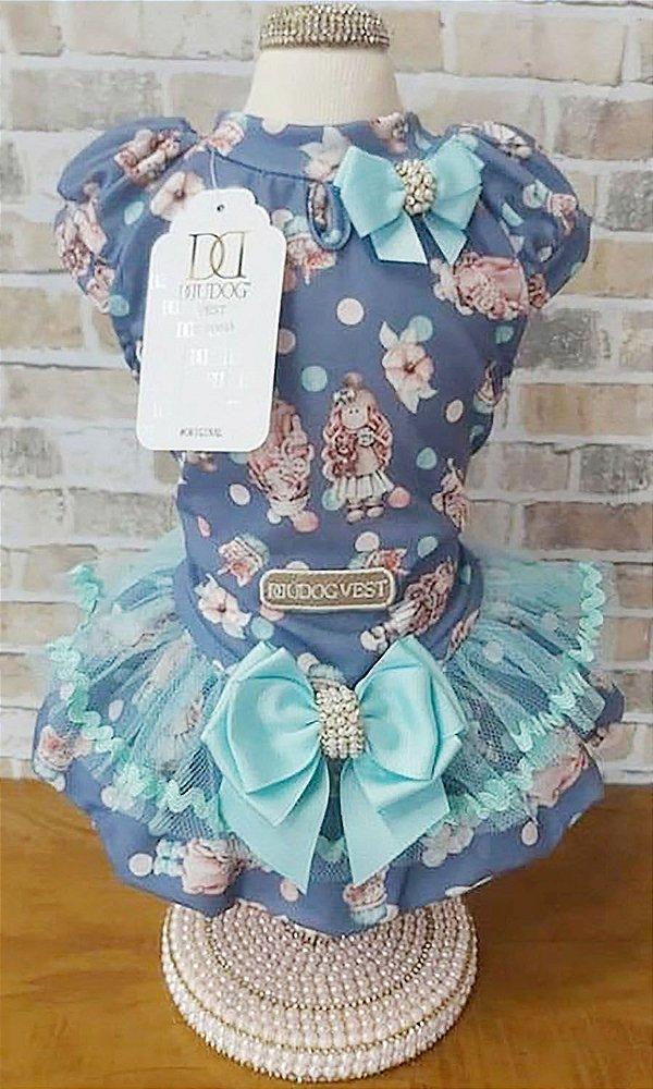 Vestido Boneca Azul