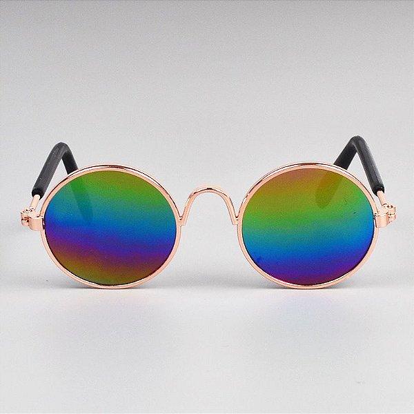Óculos Redondo Multicor
