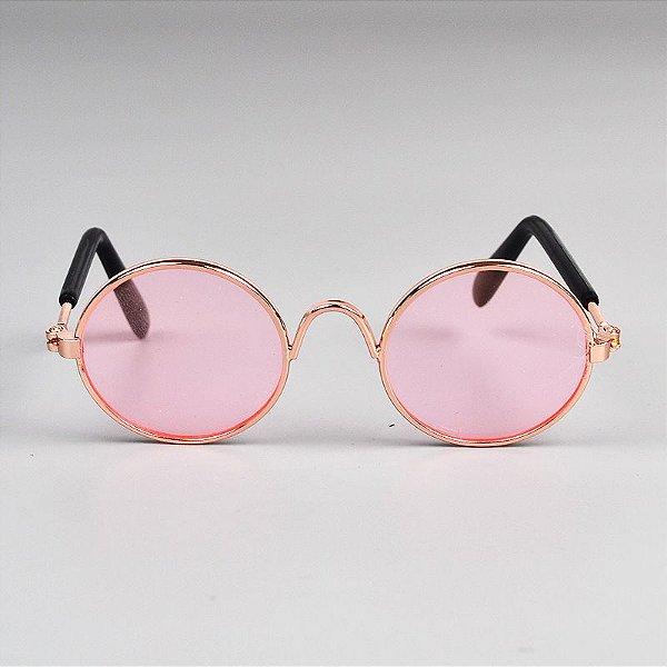 Óculos Redondo Rosa