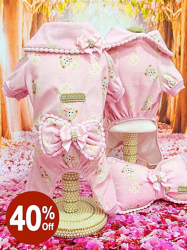 Pijama Urso Rosa