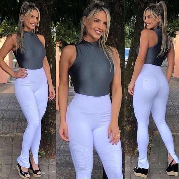 f41da7396 Calça Nervuras Branca - Mila Lexa Moda Fitness