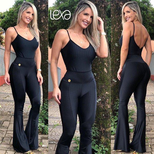 bd4d97a2f Body Preto em Cirré - Mila Lexa Moda Fitness