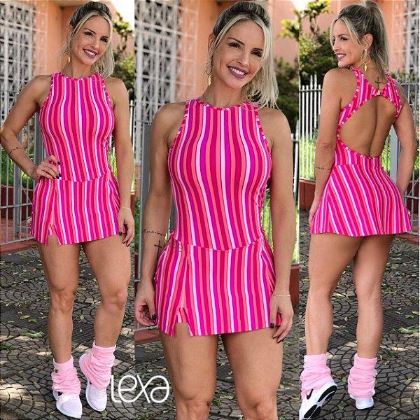 Vestido Listras Pirulito