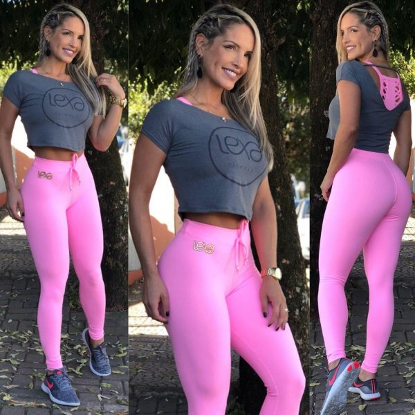 Legging Rosa Cos Alto