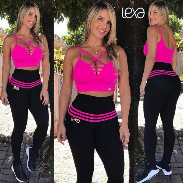 Conjunto Preto /Pink