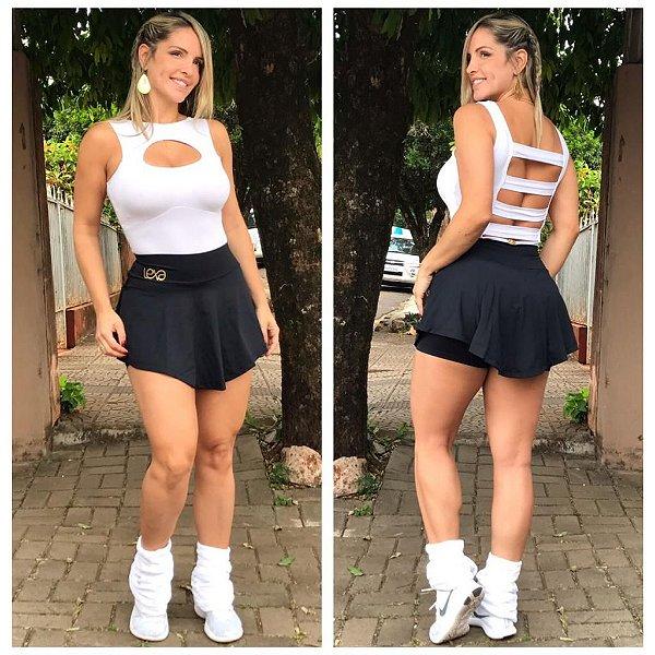 Saia Shorts Zumba Preta