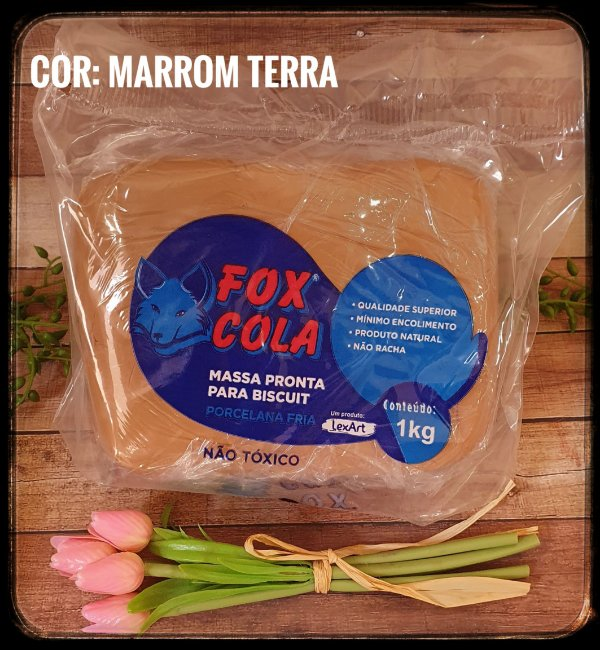 Massa para Biscuit FOX - Marrom Terra