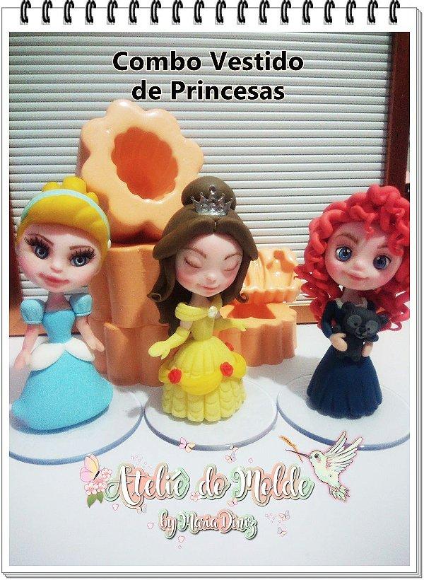 Combo Vestido de Princesas 3D