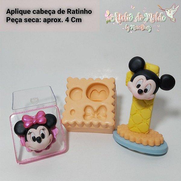 Aplique Cabeça de Ratinho