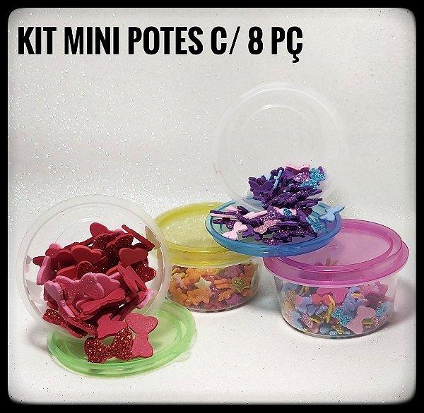 Kit Mini Potes Redondo c/8 peças