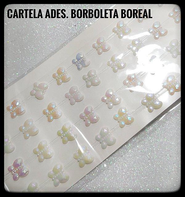 Cartela Adesiva de Borboleta Boreal 10mm