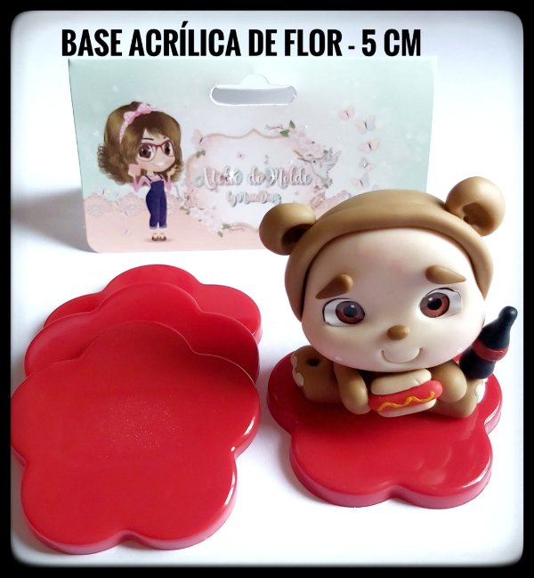 Base Acrílica de Flor - 5 cm