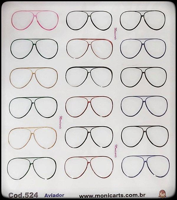 524 - Óculos Aviador - Transparente