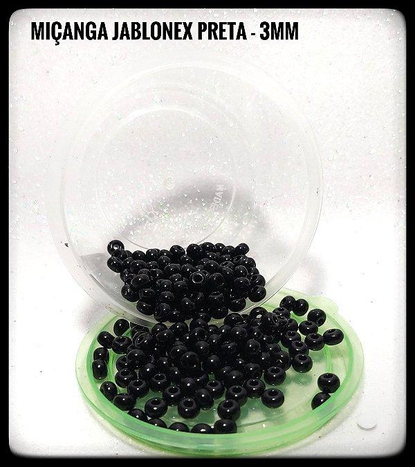 Miçanga Jablonex Preta - 3mm