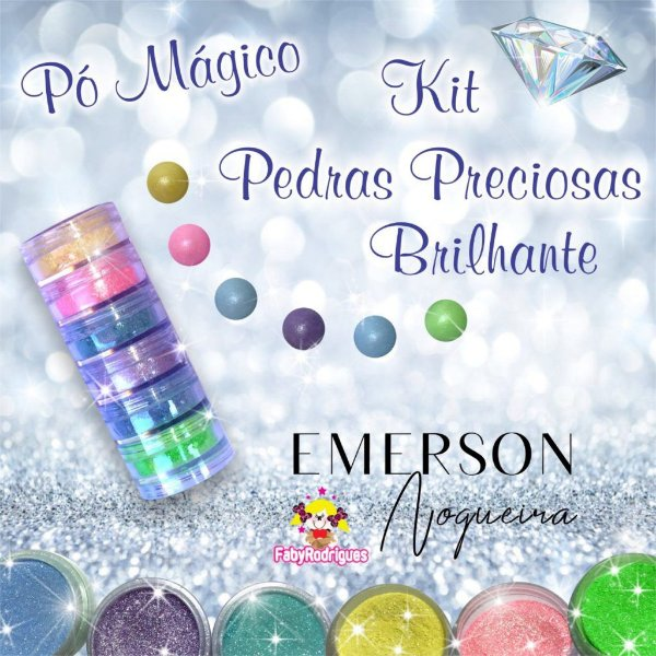 Pó Mágico - Kits Pedras Preciosas Brilhante