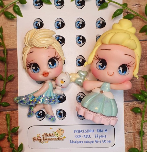 Olhos Princesinha - Res - Azul