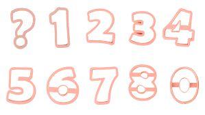 Cortador de Números - Rosa Bebê - 8,5cm