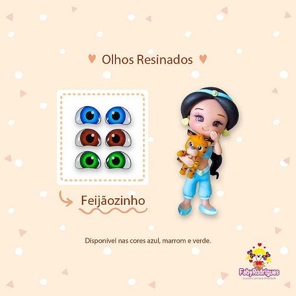 Olhos Resinados Feijãozinho - F06 - Faby Rodrigues - Mista
