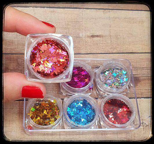 Glitter - Formato Borboletas - Fada Color