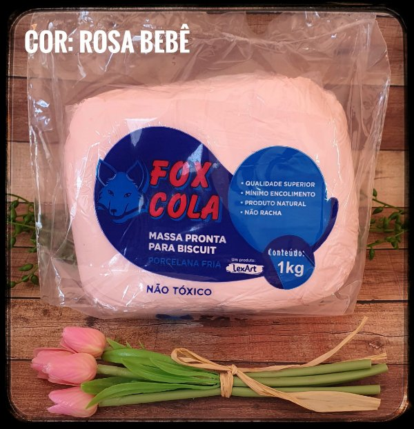 Massa para Biscuit FOX - Rosa Bebê
