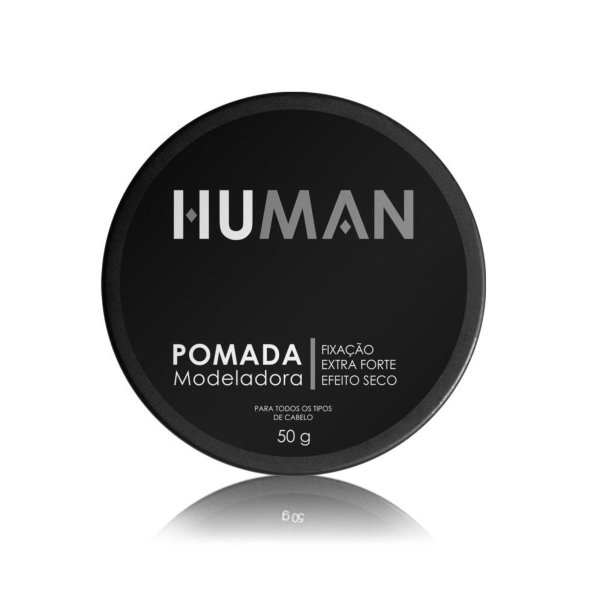 Pomada Modeladora Extra Forte Efeito Seco Human 50g