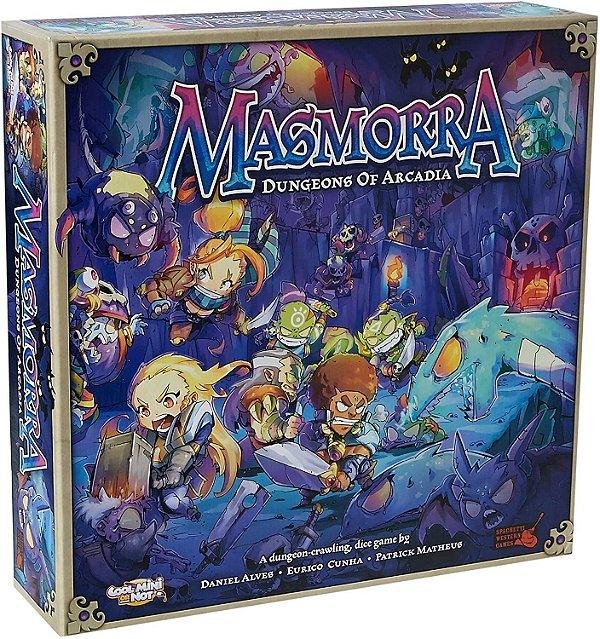 Masmorra: Dungeons of Arcadia + Arcadia Quest Crossover Kit + Adventurers Set + Monster set com sleeve (Pré-venda)