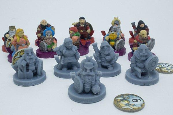 Kit 5 miniaturas para o jogo Caverna