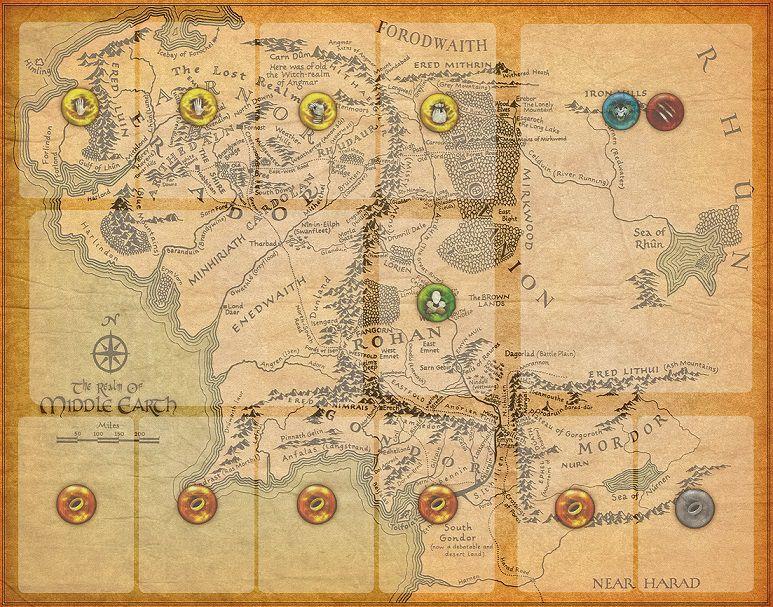 Playmat O Senhor dos Anéis: Jornadas na Terra Média Individual - 5 unidades