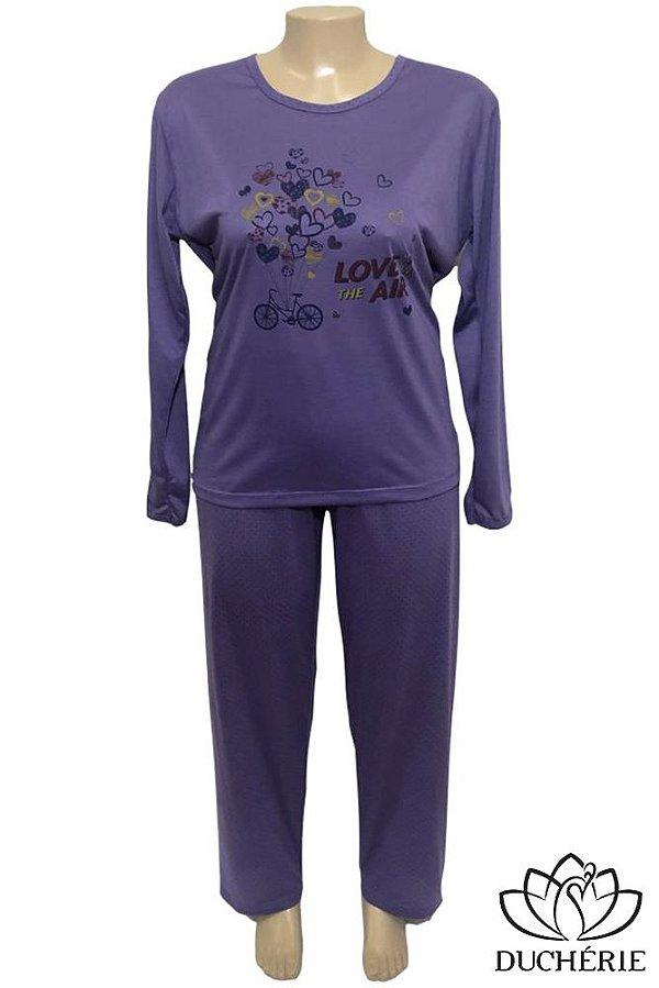 Pijama Plus Size Roxo