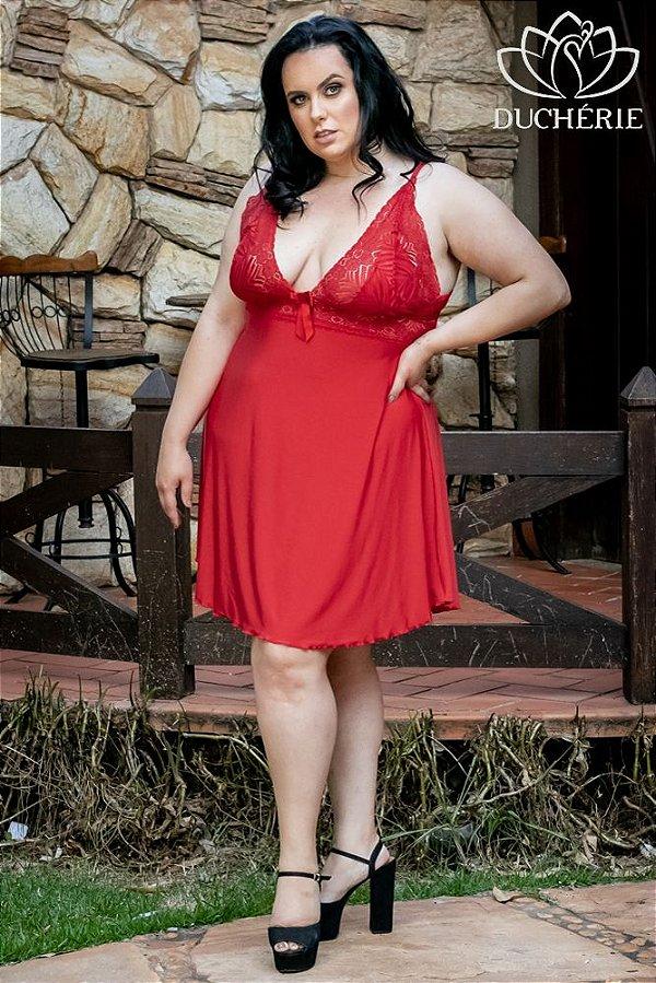 Camisola Plus Size Sem Bojo Vermelha