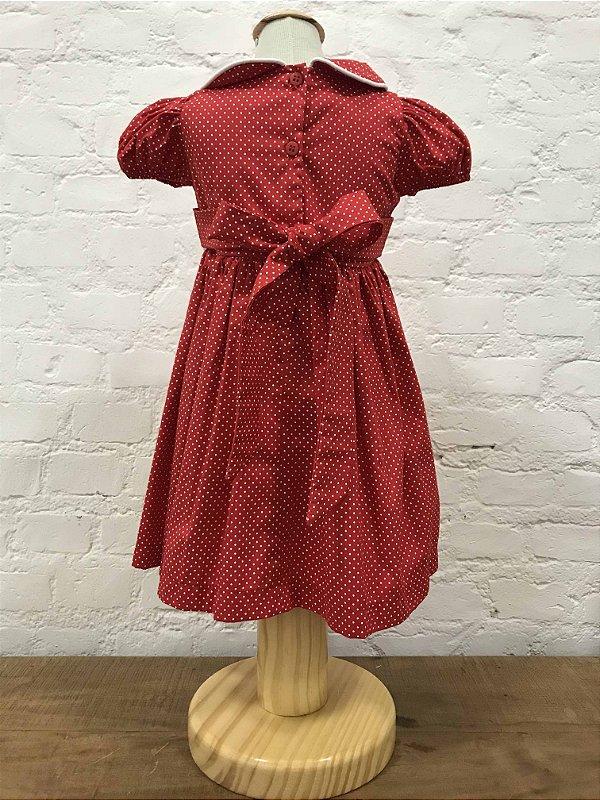 Vestido Poá Vermelho com Faixa para Cabelo