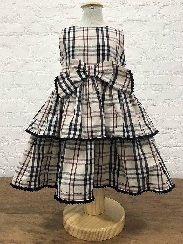 Vestido Burberry Inspired Decote V 26758