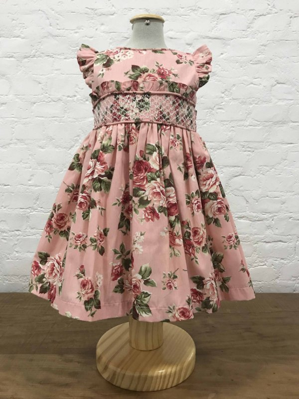 Vestido Floral Rosa Casinha de Abelha