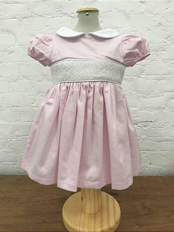 Vestido Casinha de Abelha Manga Princesa Rosa
