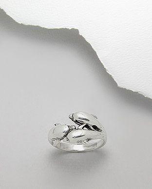 anel de prata tres golfinhos