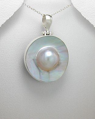 pingente de prata com abalone