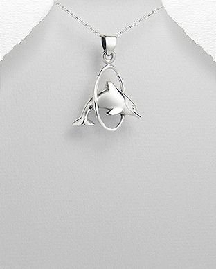 pingente de prata golfinho