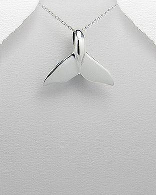 pingente de prata rabo de baleia