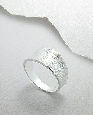 anel de prata fosca largo