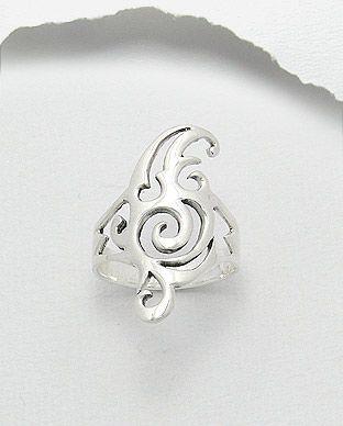 anel de prata tribal