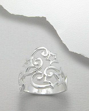 anel de prata estrela tribal