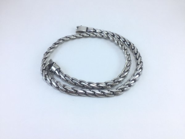 corrente de prata bali masculina trança pesada