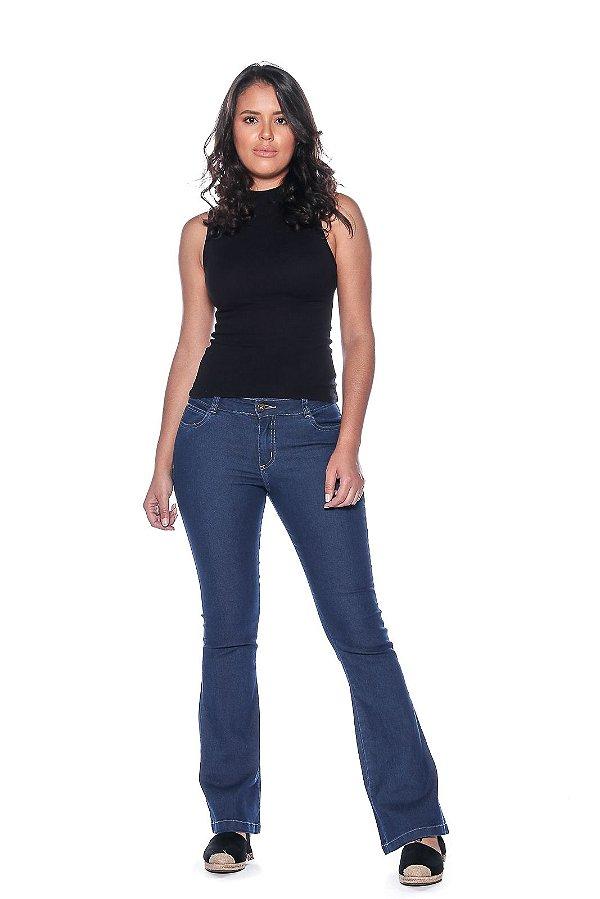 Calça Flair Jeans Feminina Macaw 7803 Azul