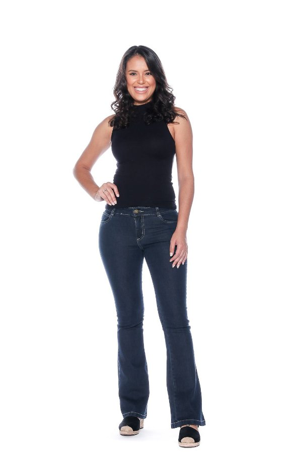Calça Flair Jeans Feminina Macaw 7803 Azul Escuro