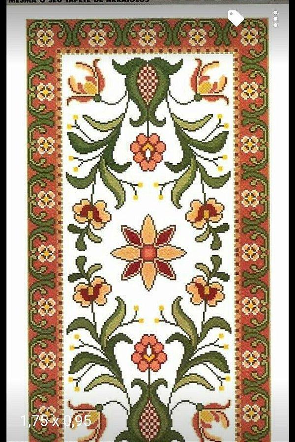 Juta Riscada para Tapete Floral #25