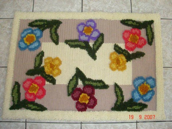 Juta Riscada Floral #83