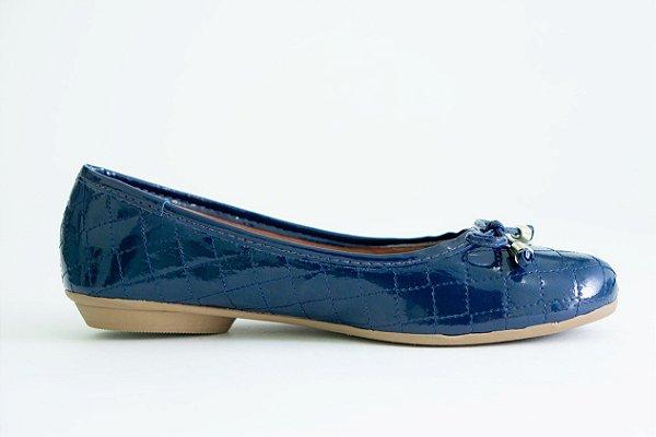 36c932a3b7 SAPATILHA MATELASSÊ AZUL MARINHO VERNIZ - Cecilia Shoes Sapatos ...