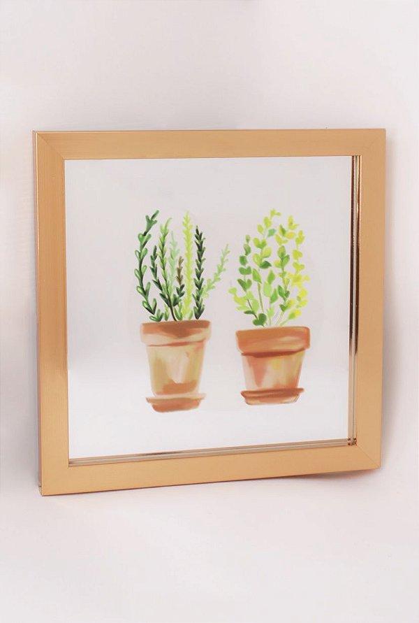 Quadro espelhado PLANTAS