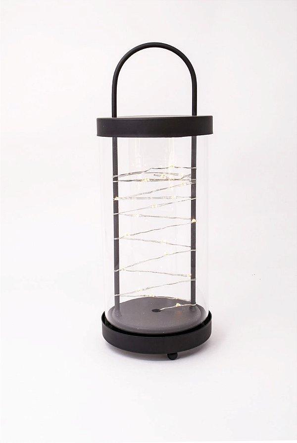 Luminária LED preta